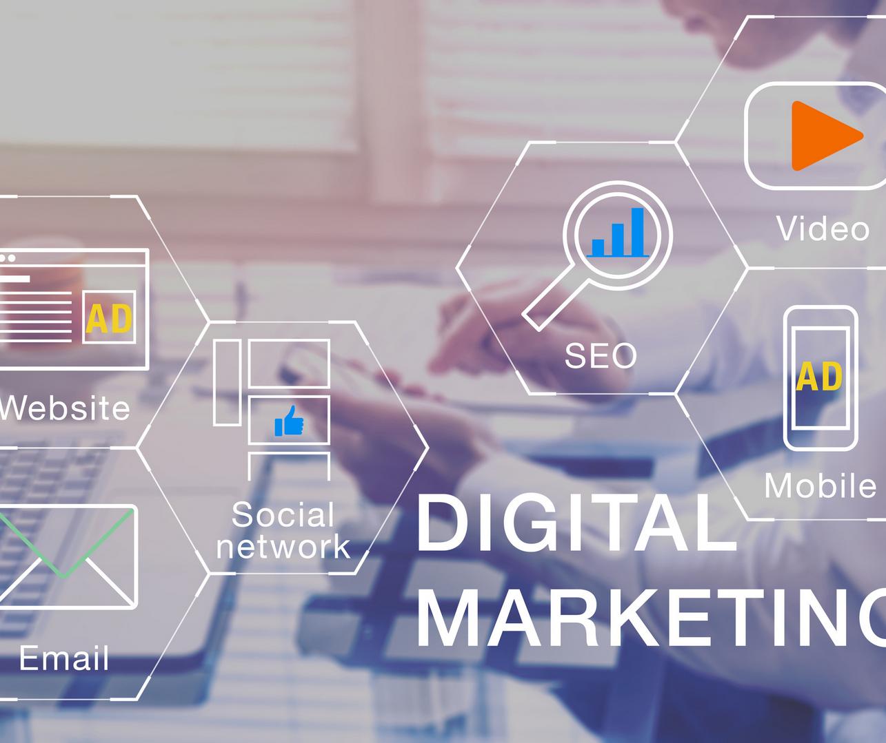 Digitalni marketing: Web shop, Društvene mreže i Web stranica