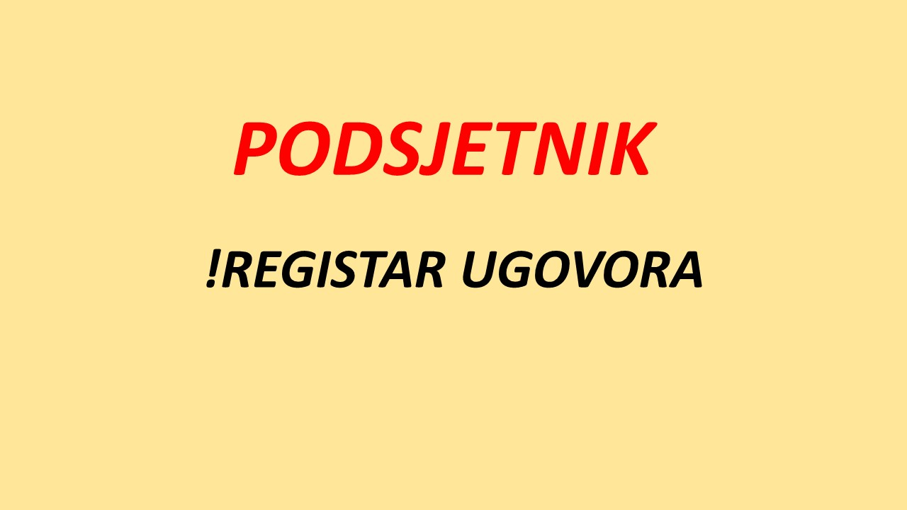 Izrada Registra ugovora/ narudžbenica i okvirnih sporazuma – radionica na računalima - WEBINAR 8 bodova