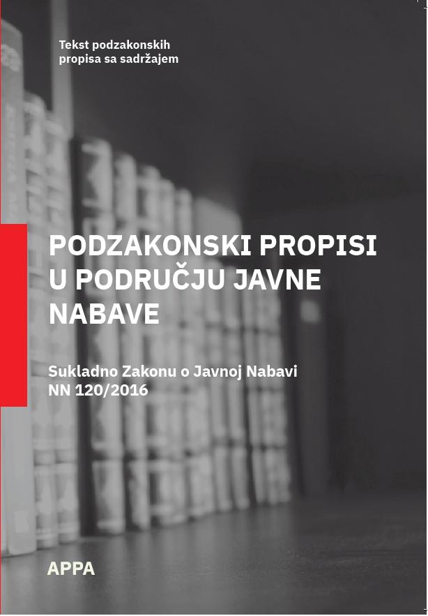 Podzakonski propisi za javnu nabavu - ažurirano sa 01.02.2021.