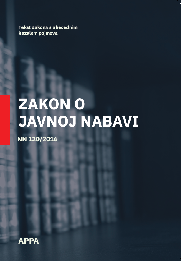 Zakon o javnoj nabavi  - ZJN 2016